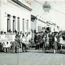 Campanha organizada pela Corporação Musical em favor da seca na região Norte do país, na década de 1950.