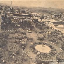 Vista aérea da Praça 21 de Abril, outubro de 1977.