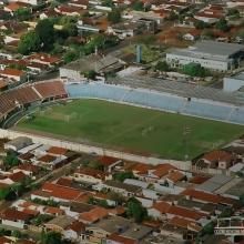 Vista aérea do Estádio Municipal Frederico Dalmaso, o Fredericão