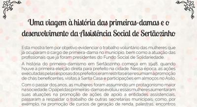 Uma viagem à história das primeiras damas e o desenvolvimento da Assistência Social em Sertãozinho