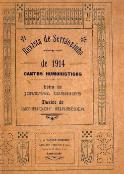 Revista de Sertãozinho de 1914 - cantos humoristicos