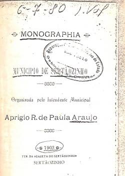 Monographia Município de Sertãozinho - Aprígio de Araújo