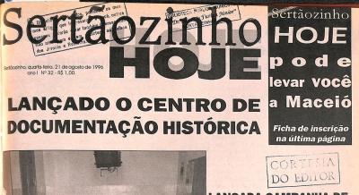 Jornal Sertãozinho Hoje 21 ago 1996