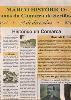 Marco Histórico - 100 anos Comarca Sertãozinho