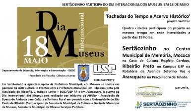 Release - Sertãozinho participa do dia internacional dos museus em 18 de maio