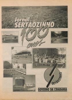 Jornal Sertãozinho 100 anos 1996